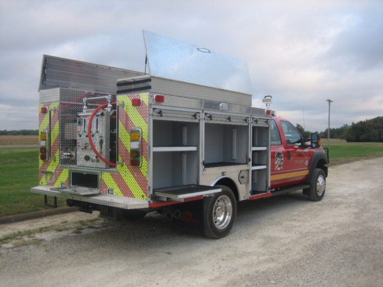 wet rescue fire truck skid unit