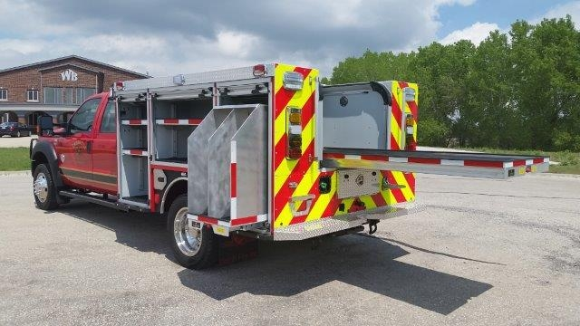 drey rescue fire truck medium duty extra storage