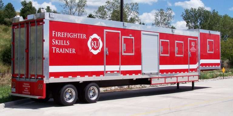 custom rescue training trailer