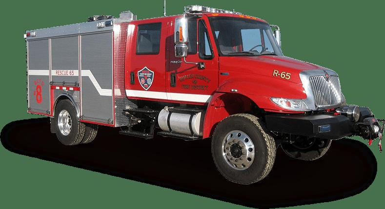 dry rescue heavy duty fire truck