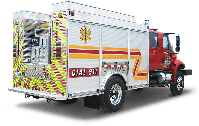wet rescue fire truck large chasis