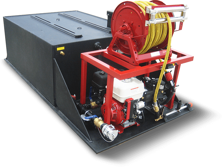 stokes high pressure fire skid unit