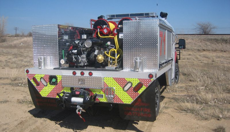 brush truck work station fire skid unit